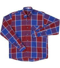 camisa masculina xadrez manga longa rodeo western