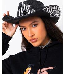 akira westworld zebra cowgirl hat