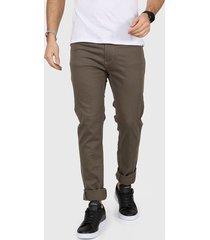 pantalón marrón la dolfina 5 bolsillos