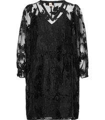 floraza sanna dress kort klänning svart becksöndergaard