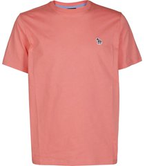 coral pink cotton t-shirt