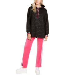juicy couture juniors' oversized logo hoodie