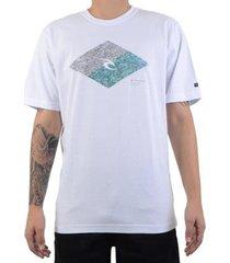 rip curl camiseta rip curl diamond tee - branco / p - masculino