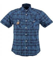 petrol stevig blauw overhemd