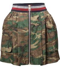 utility mini skirt kort kjol grön tommy hilfiger