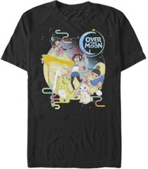 fifth sun men's over the moon group in stars short sleeve t-shirt