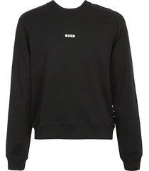 msgm ribbed logo sweatshirt