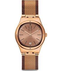 reloj análogo cobre swatch