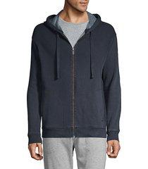 elliot washed fleece zip hoodie