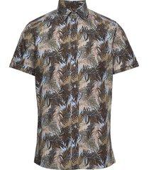 8560 - iver st soft kortärmad skjorta brun sand