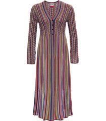 m missoni long multicolor striped dress