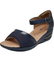 sandalia azul comfortflex