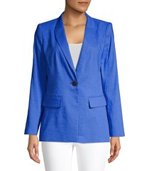 kobi halperin women's spencer linen-blend blazer - azure - size s