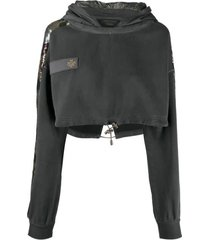 mr & mrs italy audrey tritto capsule cropped sweatshirt for woman