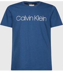 polera calvin klein front logo t-shirt azul - calce regular