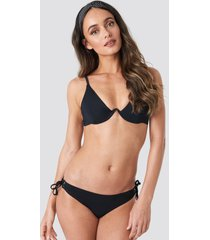 trendyol milla detailed bikini bottom - black