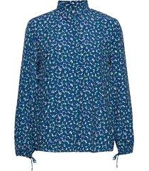 d1. desert rose viscose shirt blouse lange mouwen blauw gant