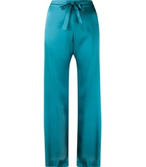 gilda & pearl sophia silk pajama bottoms - blue