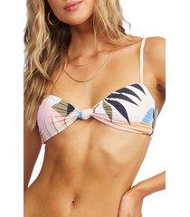 women's billabong last rays swim top, size large - white