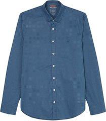overhemd kent collar donkerblauw