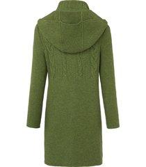 gebreide jas van 100% scheerwol van georg maier groen