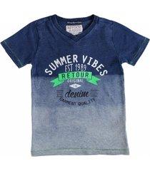 retour stevig blauw t-shirt
