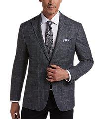 joseph abboud limited edition graphite plaid slim fit sport coat