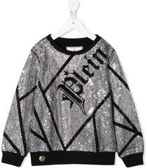 philipp plein crystal plein sweatshirt - black