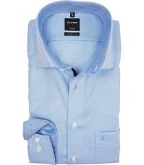 olymp luxor shirt mouwlengte 7 lichtblauw motief