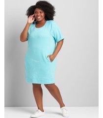 lane bryant women's livi sweatshirt dress 38/40 capri blue