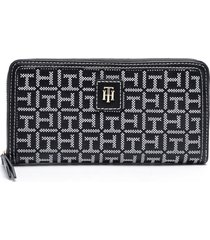 billetera lg zip wallet negro tommy hilfiger