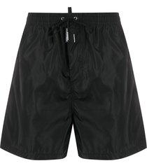 dsquared2 logo tab swim shorts - black