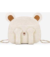cute bear pattern mini crossbody bag