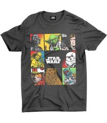 camiseta estampada all star wars - unissex
