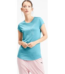 gemêleerd sportief t-shirt voor dames, blauw, maat xs | puma
