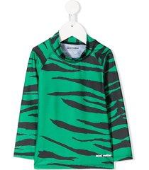 mini rodini tiger swim top - green