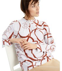 alfani printed gathered mock-neck top, created for macy's