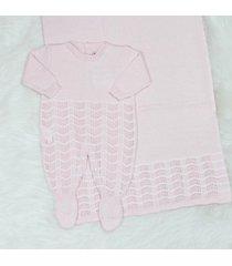 saída de maternidade macacão clarice rosa