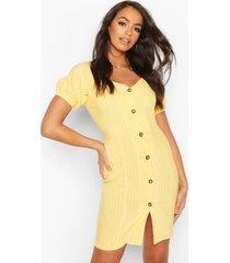 button up sweetheart mini dress, yellow