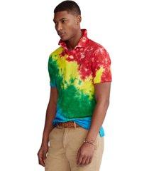polo ralph lauren men's custom slim fit tie-dye polo shirt