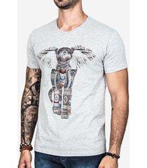 camiseta hermoso compadre ethnic elephant masculina