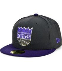 new era sacramento kings basic 2-tone 59fifty cap