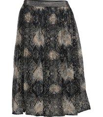 shaky skirt knälång kjol svart cream