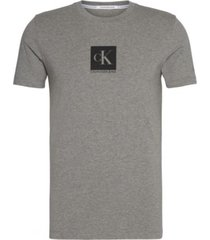 polera slim center monogram gris calvin klein