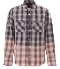 amiri tartan shirt with lurex