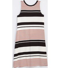 loft striped tie back swing dress