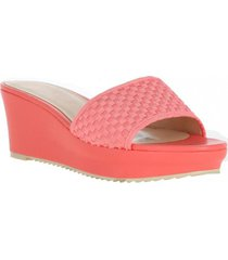 sandalia confetty coral nine west