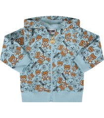 light blue sweatshirt with teddy bears for baby boy