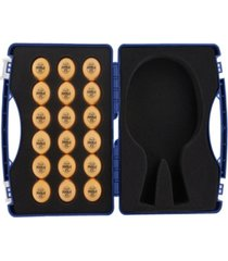 joola tour case with 40mm, 3-star competition table tennis balls includes 18 balls