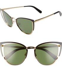 women's salvatore ferragamo 54mm cat eye sunglasses -